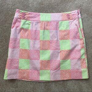 Vineyard Vines Patchwork Whale Print Skirt